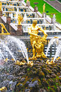 Petergof park fountains samson in saint petersburg russia Stock Photography