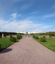 Petergof upper park in saint petersburg russia landscape of Stock Photography