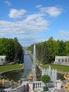 Peterhof canal to the gulf of finland Royalty Free Stock Photo