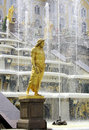 Peterhof. Grand Cascade. Stock Photo