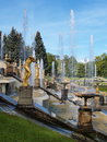 Peterhof in russia grand palace and the grand cascade Stock Image