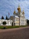 Peterhof in russia grand palace saint petersburg Stock Photo