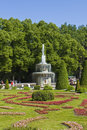 Peterhof russia july roman fountains in park july in town peterhof in surroundings of st petersburg russia peterhof built in Royalty Free Stock Photography