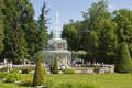 Peterhof russia july roman fountains in park july in town peterhof in surroundings of st petersburg russia peterhof built in Royalty Free Stock Photo