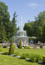 Peterhof russia july roman fountains in park july in town in surroundings of st petersburg built in Stock Image