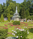 Peterhof russia july roman fountains in park july in town in surroundings of st petersburg built in Stock Photo