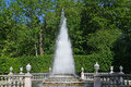 Peterhof russia the pyramid fountain in a summer sunny day july Royalty Free Stock Photography