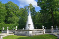 Peterhof russia the pyramid fountain in a summer sunny day july Stock Image