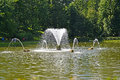 PETERHOF, RUSSIA. The Whale fountain in the Sand pond Royalty Free Stock Photo
