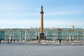 Petersburg russia march palace square on march in petersburg russia palace square is the central city square of petersburg area Royalty Free Stock Image