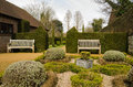 Petersfield physic gardens view of the public in the market town of hampshire Royalty Free Stock Images
