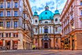 The Peterskirche of Vienna, Graben, Austria, no people Royalty Free Stock Photo
