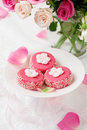 Petit fours for holiday Stock Images