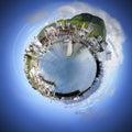 Petit monde de sphère Photo stock