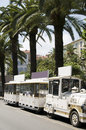 Petit train place fock ajaccio corsica Stock Photography