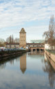 Petite france view view to tower former fortifications strasbourg france Royalty Free Stock Photos