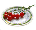 Petites tomates Photo stock