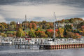 Petoskey City Harbor Royalty Free Stock Photo