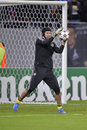 Petr cech goalkeeper of chelsea london pictured during the uefa champions league game against steaua bucharest chelsea won the Stock Images