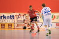 Petr hermansky in th semifinal of czech floorball match betwwen tatran stresovice and pedro perez florbal chodov it was played on Royalty Free Stock Photography
