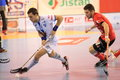 Petr prazak in th semifinal of czech floorball match betwwen tatran stresovice and pedro perez florbal chodov it was played on Royalty Free Stock Photography