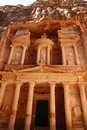 Petra the abandoned city of in jordan in ancient times was the capital of the kingdom of the nabateans Stock Photography