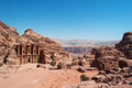 Petra, the Monastery, known as Ad Deir or El Deir, Petra Archaeological Park, Jordan, Middle East, desert, landscape Royalty Free Stock Photo