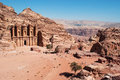 Petra, the Monastery, known as Ad Deir or El Deir, Petra Archaeological Park, Jordan, Middle East, desert, landscape Royalty Free Stock Photo