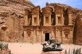 Petra monastery, Jordan Royalty Free Stock Photo
