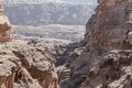 Petra view point from top of the canyon in jordan Stock Photo