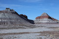 Petrified forest national park blue mesa tepees in the south of Royalty Free Stock Images