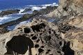 Petrified Sand and coastal rocks in Oregon Royalty Free Stock Photo
