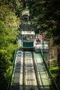 Petrin funicular in prague czech republic Royalty Free Stock Images