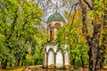 Petrin hill garden and buildings in prague architecture details of inside the gardens chapel of the holy sepulchre Stock Images