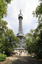 Petrin lookout tower similar to the eiffel tower in prague Royalty Free Stock Photography