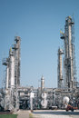 Petrochemical industrial plant on the blue sky Royalty Free Stock Photo