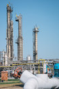 Petrochemical industrial plant on the blue sky Stock Images