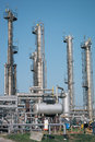 Petrochemical industrial plant on the blue sky Royalty Free Stock Photography