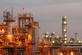 stock image of  Petrochemical industry on sunset.