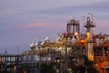 Petrochemical industry on sunset. Royalty Free Stock Photo