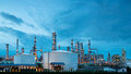 Petrochemical plant oil refinery industry Royalty Free Stock Photo
