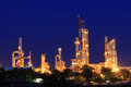 Petrochemical plant in twilight background Royalty Free Stock Image