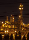 Petrochemical plant at twilight with beautiful light Stock Photo