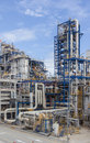 Petrochemical plant wit blue sky big structure of Royalty Free Stock Images