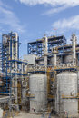 Petrochemical plant wit blue sky big structure of Stock Images