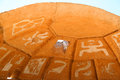 Petroglyph image created by removing rock surface Stock Photo