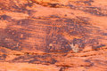 Petroglyphs at Valley of Fire - Nevada Royalty Free Stock Photo