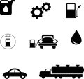 Petrol bumb icons illustration of bump icon image is isolated on white background created in illustrator software Stock Photography