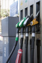 Petrol and diesel pumps Royalty Free Stock Image