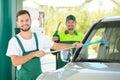 Petrol filling station Royalty Free Stock Photo